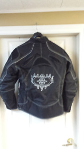 Woman's Motorcycle riding jacket and leather chaps