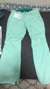 Brand new teal snowpants