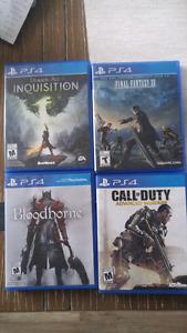 Jeux de PS4 condition impeccable !!!