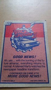Back to the Future II Collector Card #73 Kitchener / Waterloo Kitchener Area image 1