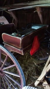 Horse-drawn Cart, Mennonite Made, Excellent Shape, Sulky, Buggy Peterborough Peterborough Area image 5