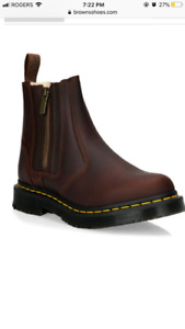 Brand new Doc Martens. Faux fur lined.Size 8. Dark brown