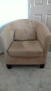 Comfy Suede Chair - 65 OBO