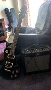 Epiphone les paul 100 and a peavy mustang 1 amp