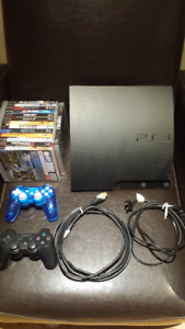 PS3 500 gb slim console bundle - with 14 games!
