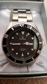 Cyma 200m diver watch Mens