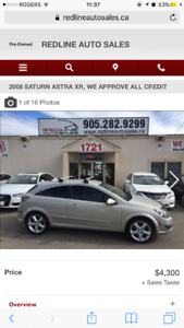 2008 Saturn Astra lease takeover