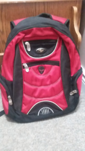 like brand new red and black book bag
