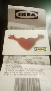 IKEA GIFT CARD - $343,78 - IN-STORE & ONLINE - No Expiration