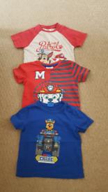 Paw patrol T-shirts age 2 to 3