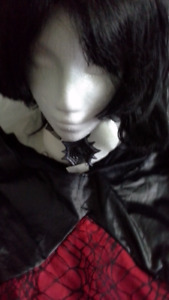 woman's spider mistress with wig & accessories. size S/M