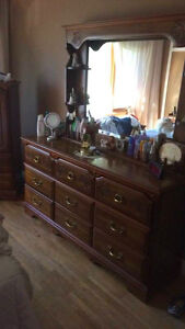 MOVING SALE - Solid wood Armoire with matching Dresser West Island Greater Montréal image 2