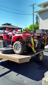 2 ATV's and trailer