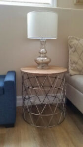 Refined Rustic End Table