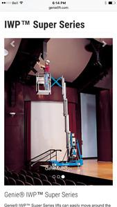 Genie IWP-20S push around man lift (Aerial Work Platform)