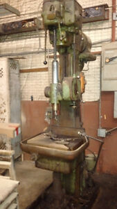 Large Industrial Drill Press with Power Feed