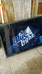 Blue Light Beer Sign
