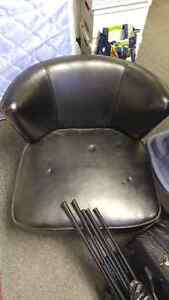 Black Faux Leather Chair Cambridge Kitchener Area image 1