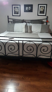 KING BED FRAME WITH MATRESS