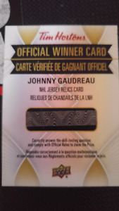 Tim Horton Hockey Card official winner