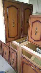 Wood cabinets - ready for pickup Windsor Region Ontario image 1