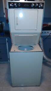 Good working apartment sized stack washer and dryer !