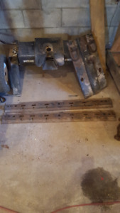 reese 5th wheel trailer hitch with rails@gooseneck hitch