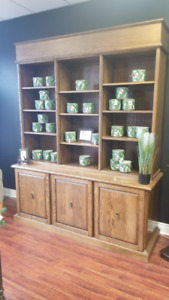 Solid Oak Shelving Unit