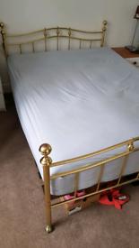 Metal bedframe and matress
