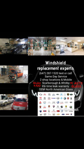 New Windshields for all vehicle's $200-$300 installed NOW
