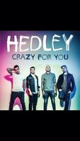 Hedley concert tickets -April 14, 2016 Kingston k-Rock