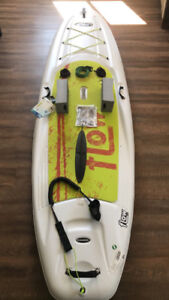 SUP Board, Paddle, Safety Strap, Travel Kit