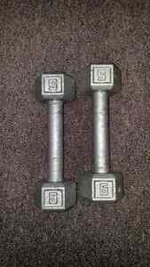 5 lb dumbbells Cambridge Kitchener Area image 1