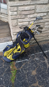 Junior Golf bag and clubs