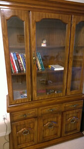 Buffet and hutch ( china cabinet )