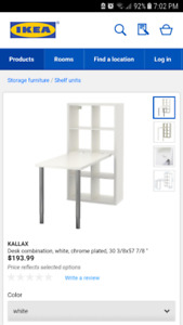 Ikea storage unit with table