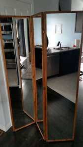 6 double hinges folding mirrors