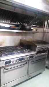 6 burner stove with griddle and 2 ovens in bottom Windsor Region Ontario image 3