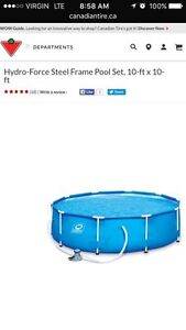 10ft X 10ft Steel Frame Hydro Force Pool