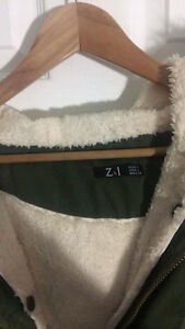 2 layer army green parka