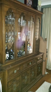 Antique Buffet and hutch by Gibbard furniture