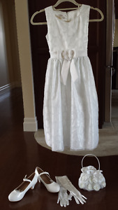 First communion Dress, Shoes, Bolero, Purse and Gloves