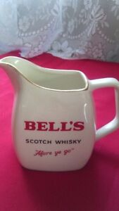 Vintage Bell's Scotch Ceramic Water Jug