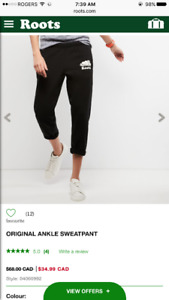 Roots Slim Fit Ankle Length Sweats