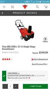 Snow blower for sale and more.