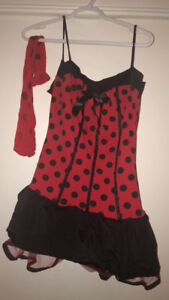 Halloween costume- lady bug dress + wings