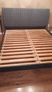 IKEA queen bed frame and matching bench