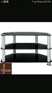 """Tv media stand with black glass up to 60"""" tv!"""