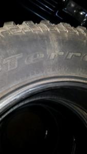 2 used by Goodrich mud terrain  lt255 75 17