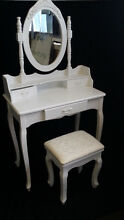 NEW 3 DRAWER FRENCH PROVINCIAL DRESSING TABLE DESK MIRROR & STOOL Chipping Norton Liverpool Area Preview